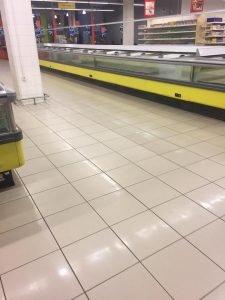 Магазин Амстор, пустые прилавки, ДНР