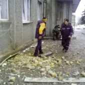 Обстрел горисполкома в Дебальцево