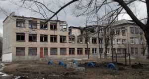 Разрушения в Дебальцево