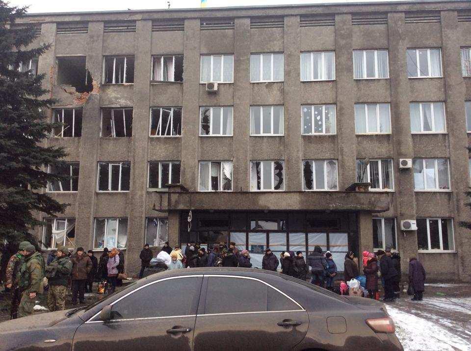 Эвакуация, Дебальцево
