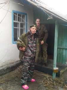 Русские оккупанты в захваченном доме