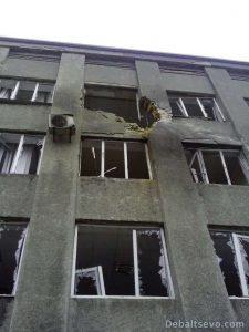 Разрушенное здание горисполкома