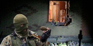 Ополченец ДНР с гранатой
