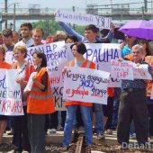 Митинг железнодорожни 3ков ДНР 2