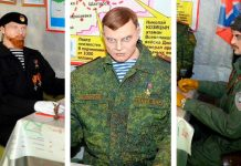 Скульптуры террористов в Донецке