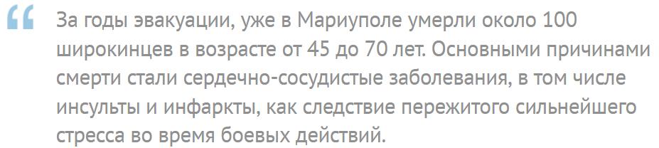 Факт про Широкино