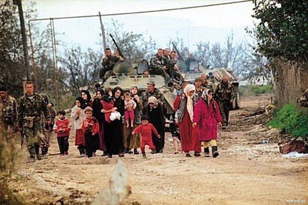 Чечня, живой щит