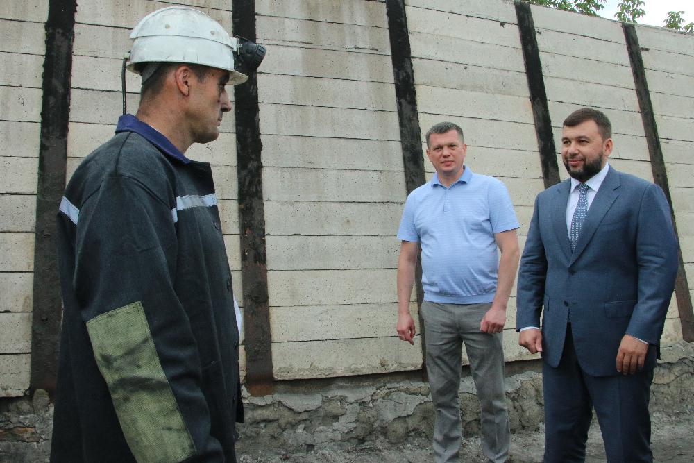 Д.Пушилин на запуске лавы в шахте «Ждановская»