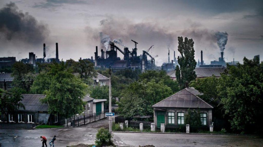 Оккупированный город Енакиево
