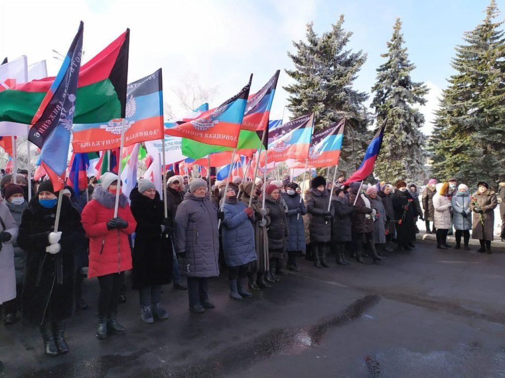 Парад коллаборантов в Дебальцево 2